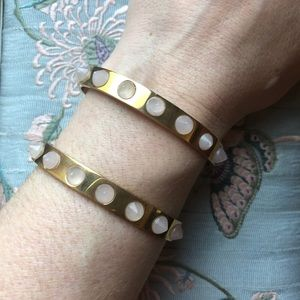 J.Crew Gold Spiked Cuff Bracelet